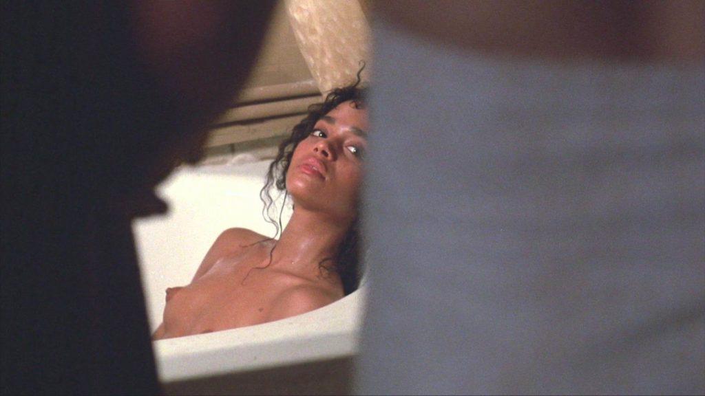 Topless in bathtub