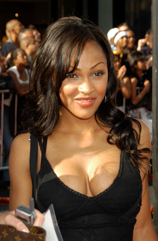 Meagan Good in black tank top