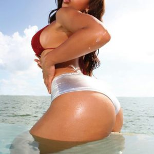 Melyssa Ford ass coming out of the water