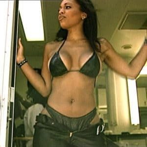 Melyssa Ford changing on bus