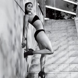Paula Patton GQ black and white