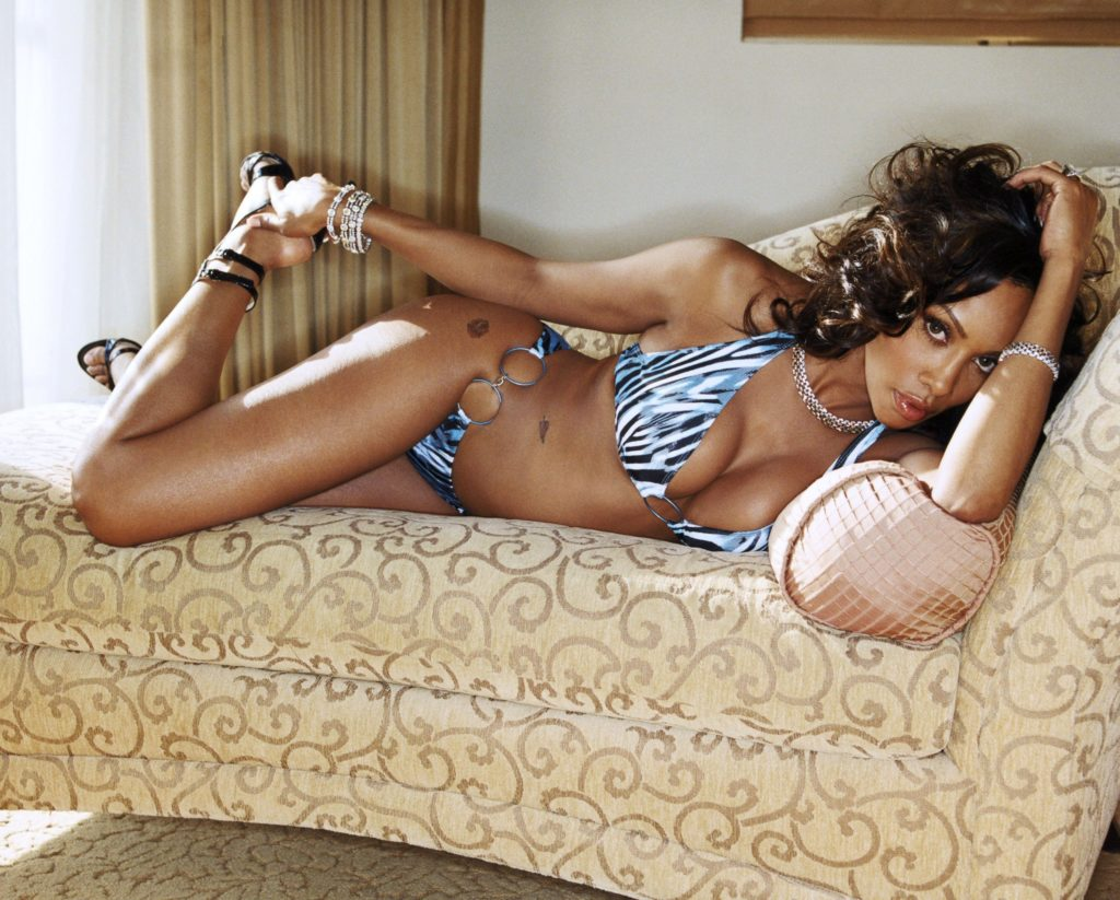 Vivica Fox in bikini and heels