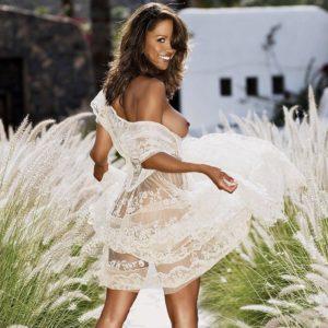 stacey dash dress white