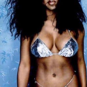 Kenya Moore string bikini retro