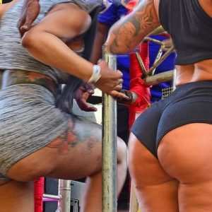Amber Rose and Black Chyna in matching sweat shorts (7)