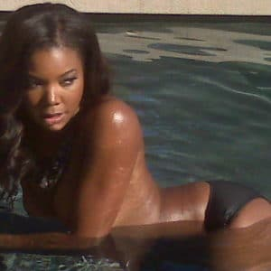 Gabrielle Union in the water topless