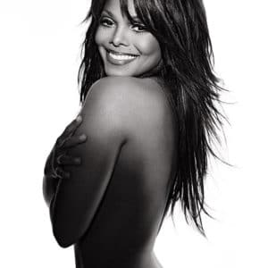 Janet Jackson covering herself