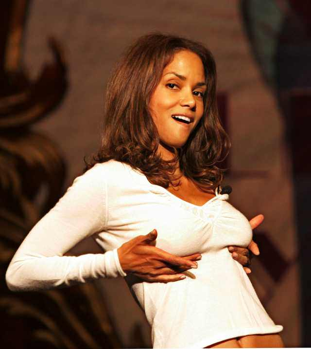 Halle Berry grabbing tits