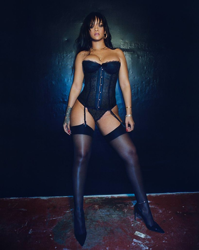 Rihanna sexy stockings