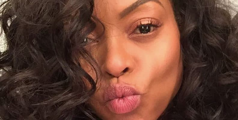 Taraji P. Henson making a duck face