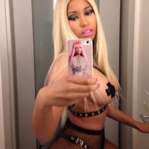 Nicki Minaj braless